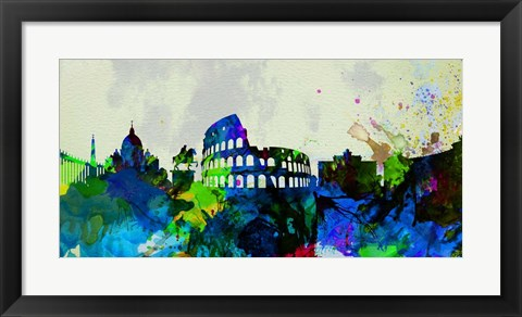 Framed Rome City Skyline Print