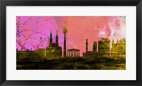 Framed Vienna City Skyline Print