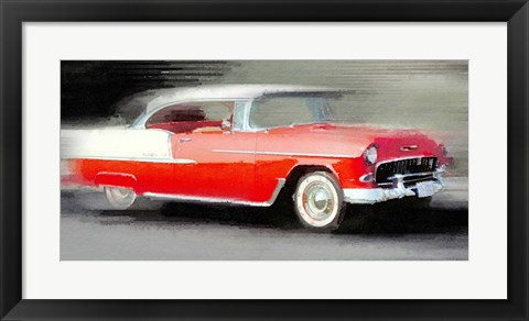 Framed 1955 Chevrolet Bel Air Coupe Print