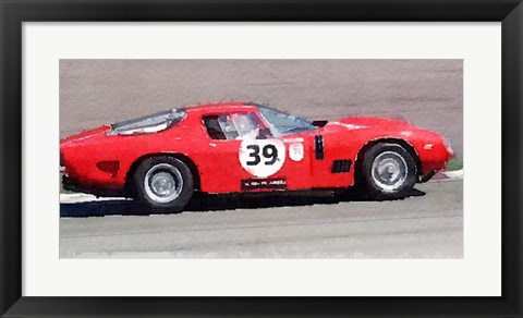 Framed Ferrari 250 GTB SWB Bizzarrini Print