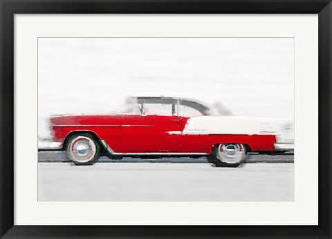 Framed 1955 Chevy Bel Air Print