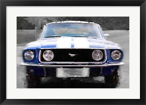 Framed 1968 Ford mustang Front End Print