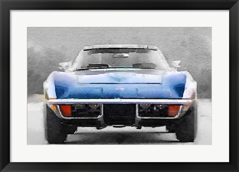 Framed 1972 Corvette Front End Print