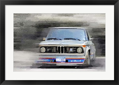 Framed 1974 BMW 2002 Turbo Print