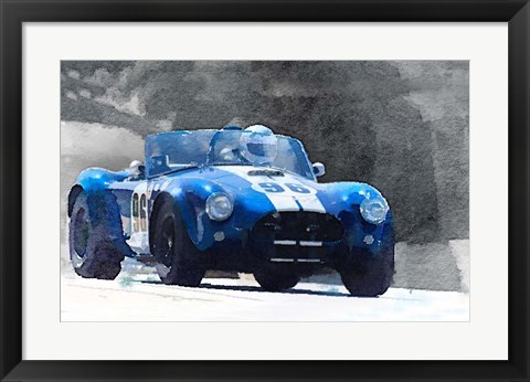 Framed 1964 AC Cobra Shelby Racing Print