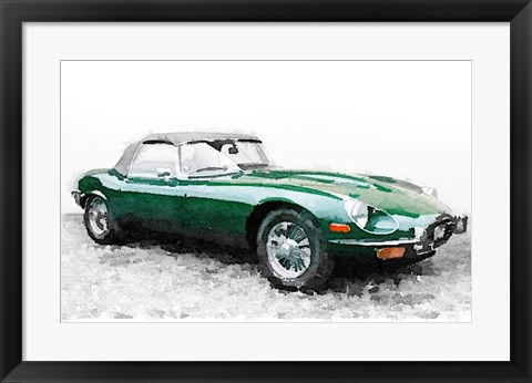 Framed 1961 Jaguar E-Type Print
