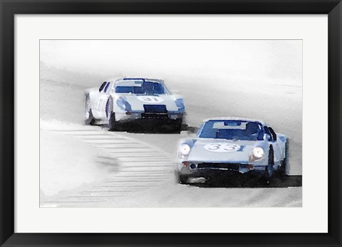 Framed Porsche 904 Racing Print