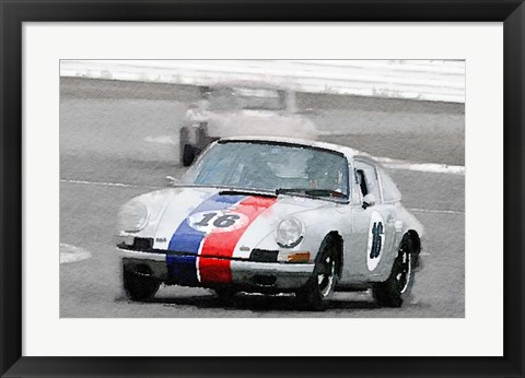 Framed Porsche 911 Race in Monterey Print
