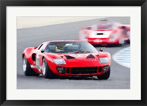 Framed Ford GT40 Race in Monterey Print