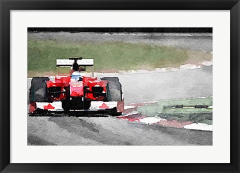 Framed Ferrari F1 on Track Print