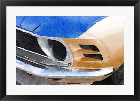 Framed Ford Mustang Front Detail Print