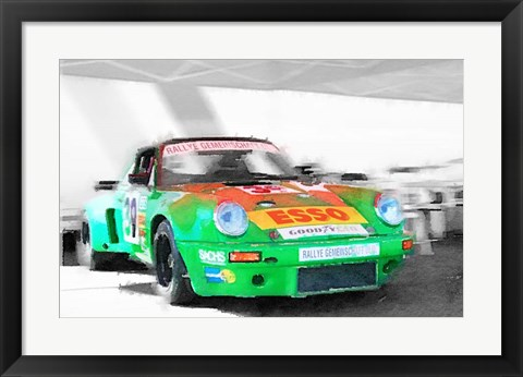 Framed Porsche 911 Turbo Print