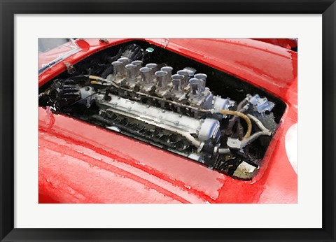 Framed Ferrari 250 GTO Engine Print