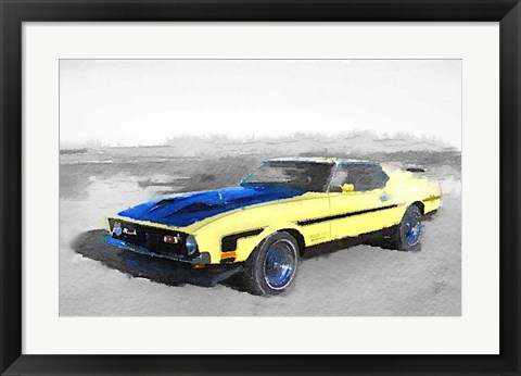 Framed 1971 Ford Mustang Boss Print