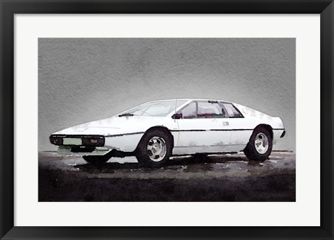Framed 1976 Lotus Esprit Coupe Print