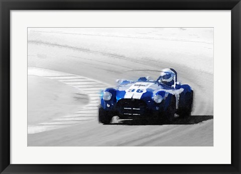 Framed Ford Shelby Cobra Laguna Seca Print