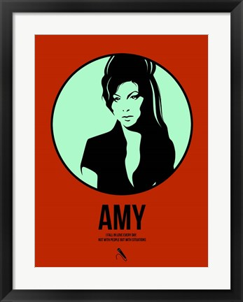 Framed Amy 1 Print