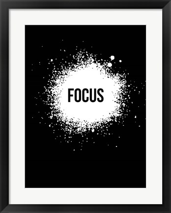 Framed Focus Black Print