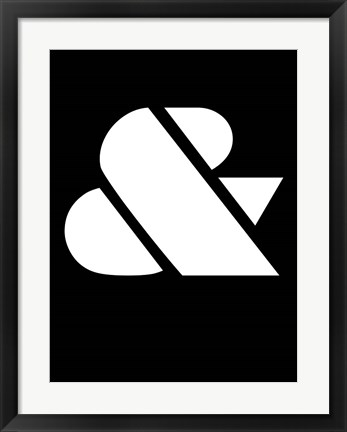 Framed Ampersand Black and White Print