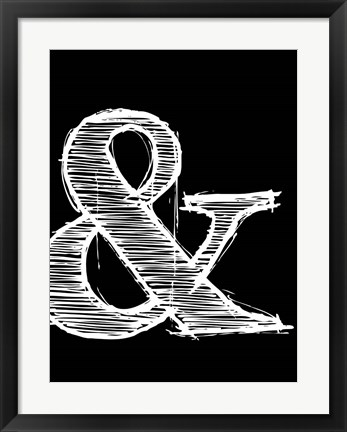 Framed Ampersand 2 Print