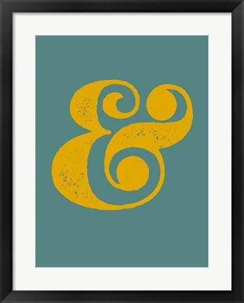 Framed Ampersand Blue and Yellow Print