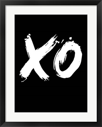 Framed XO Black Print