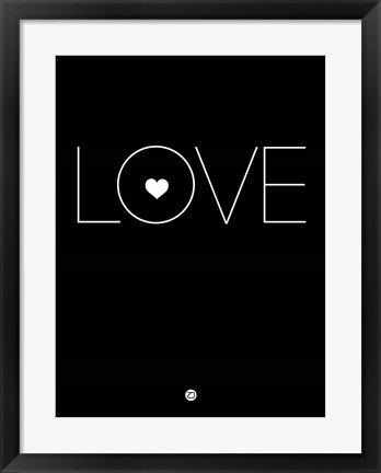 Framed Love Black Print