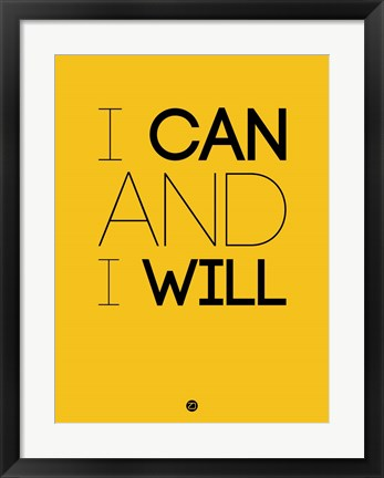 Framed I Can And I Will 2 Print