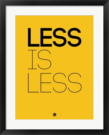 Framed Less Is Less Yellow Print