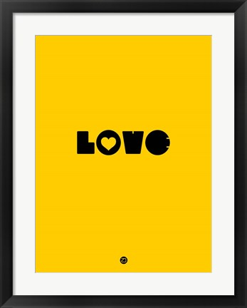 Framed LOVE Yellow Print