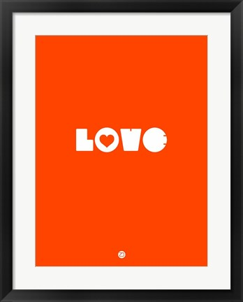 Framed LOVE Orange Print