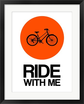Framed Ride With Me Circle 1 Print