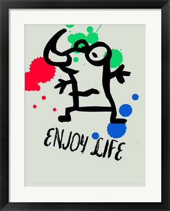 Framed Enjoy Life 1 Print