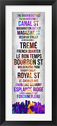 Framed Streets of New Orleans 1 Print