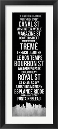 Framed Streets of New Orleans 2 Print
