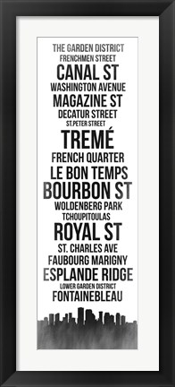 Framed Streets of New Orleans 3 Print