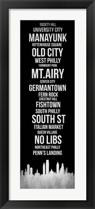 Framed Streets of Philadelphia 2 Print