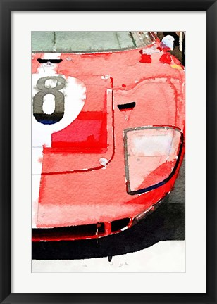 Framed 1964 Ford GT40 Front Detail Print
