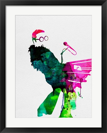 Framed Elton Watercolor Print