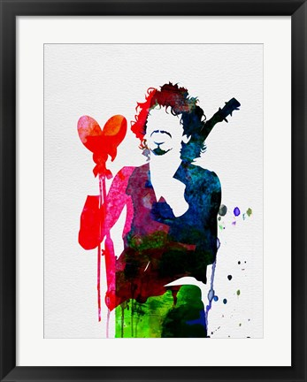 Framed Santana Watercolor Print
