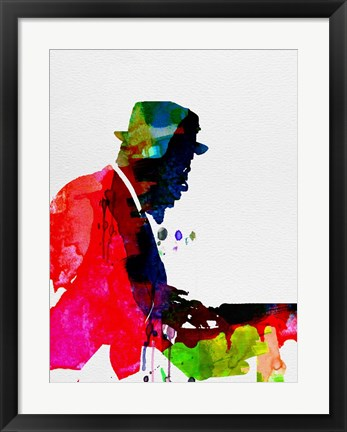 Framed Thelonious Watercolor Print