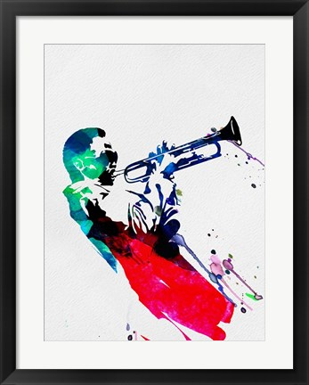 Framed Miles Watercolor Print