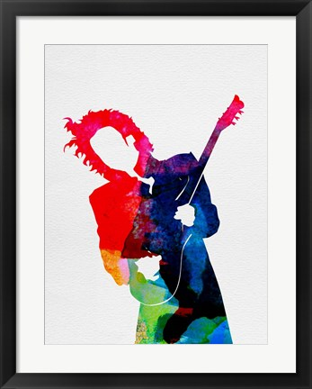 Framed Prince Watercolor Print