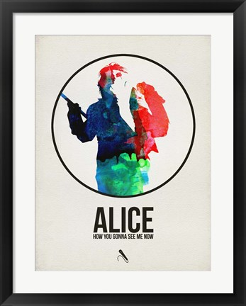 Framed Alice Watercolor Print