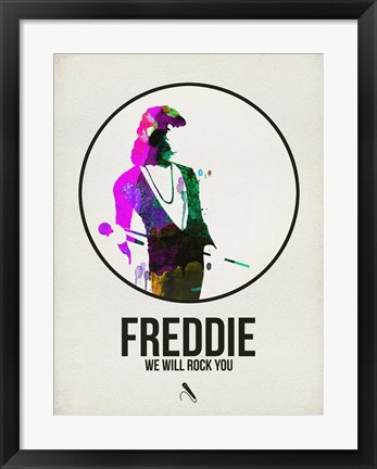 Framed Freddie Watercolor Print