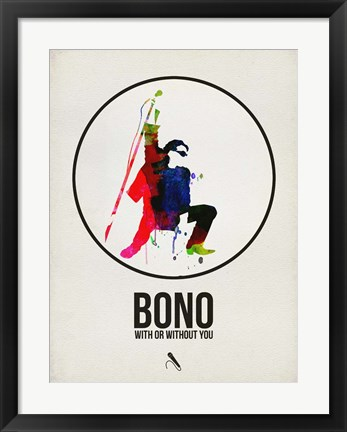 Framed Bono Watercolor Print