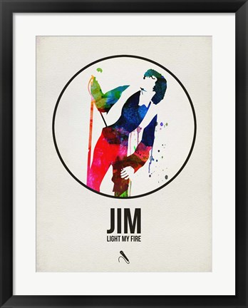 Framed Jim Watercolor Print