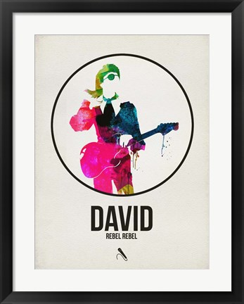 Framed David Watercolor Print