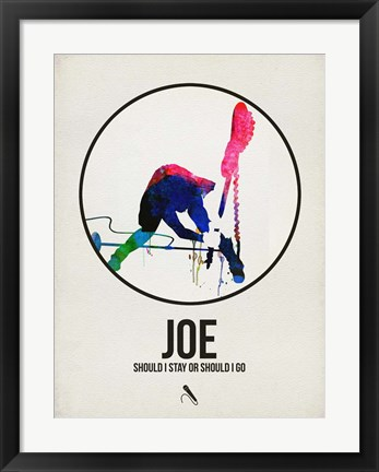 Framed Joe Watercolor Print