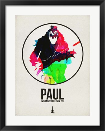 Framed Paul Watercolor Print